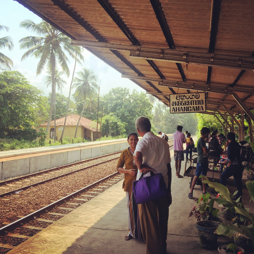 Ahanagama train station