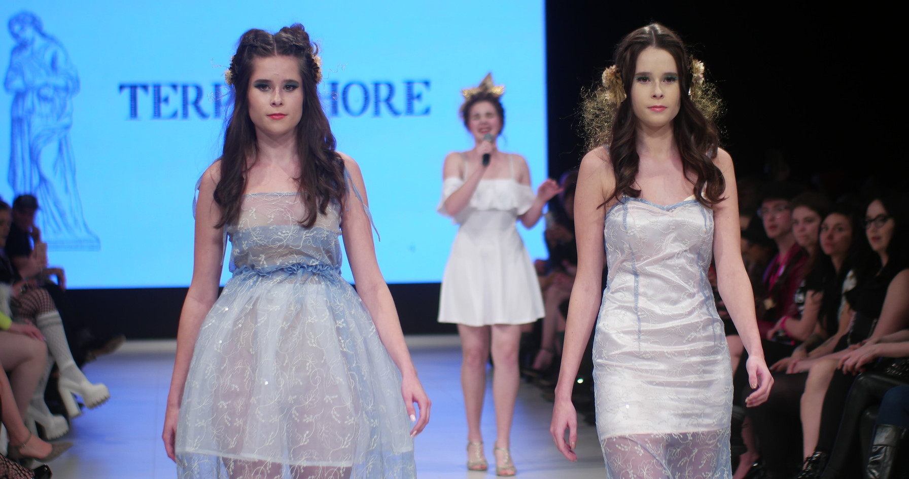 "Look 8+9 twin look: ""Thalia"" (Comedy) + ""Melpomene"" (Tragedy)"