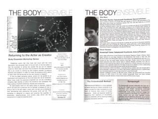 The Body Ensemble Workshop Series