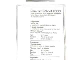 Summer School Program Chandigarh Tribune