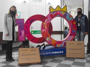 Riole doa plataformas de desinfecção de calçados por luz UVC para entidades de Curitiba