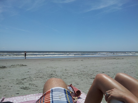 Taking a break at the Beach