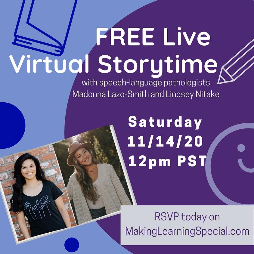 November's Free Virtual Storytime