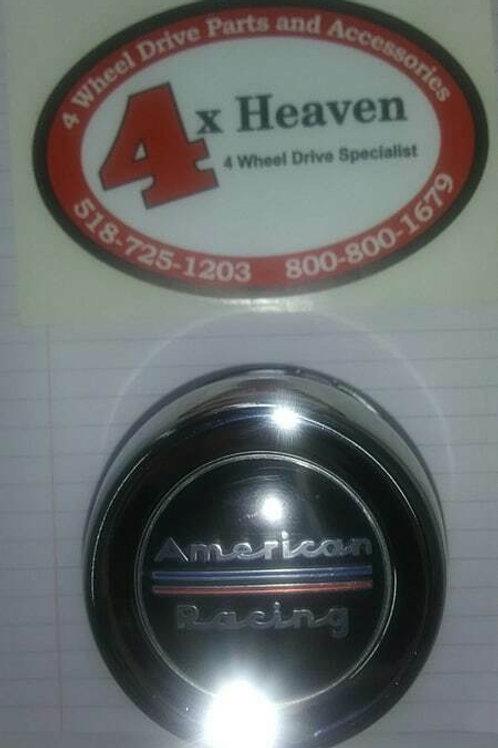 "American Racing Center Cap (Single) 3.3"" push through"