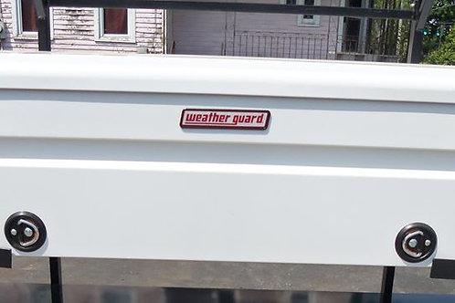 Weather Guard White Steel Saddle Box #116-3-02