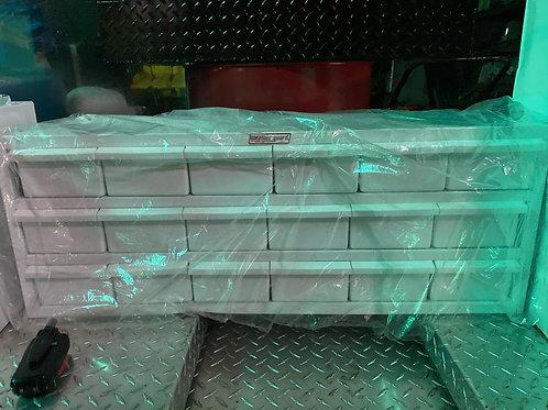 Weather Guard #9918-3-02 Steel Gloss White Van Drawer 18 bin