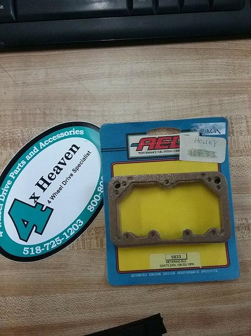 Carburetor Metering Block Gasket AED#5833 (HOLLEY #108-33) 10pk