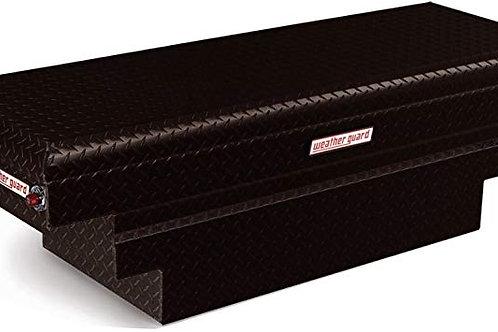 Weather Guard Black Aluminum Saddle Box #137-5-01