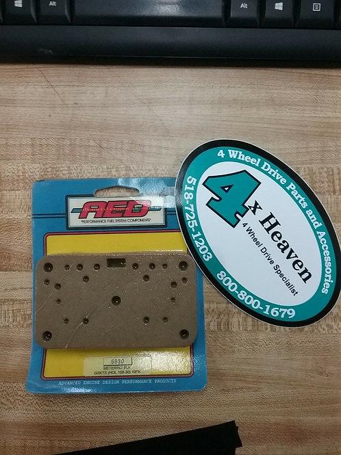 AED Carburetor Metering Block Gasket #5830. Use w/ Holley Carbs