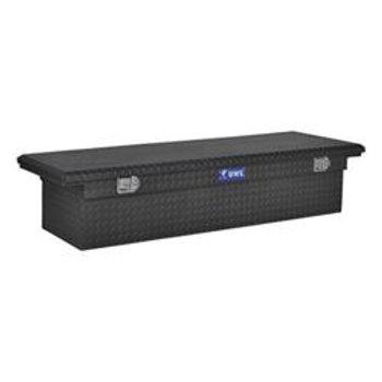 UWS Black Aluminum Low Profile Saddle Box #TBS-69-LP-BLK