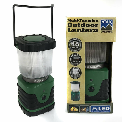 New - Atak Multi Function Outdoor Battery Operated Lantern - 280 Lumens