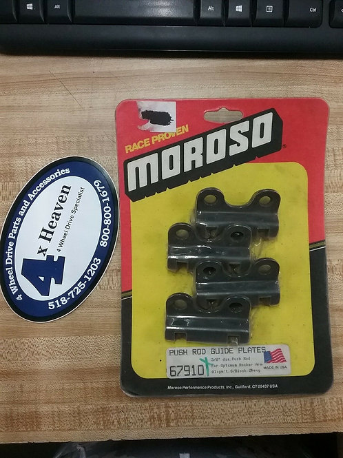 "MOROSO PUSH ROD GUIDE PLATES. 3/8"" Diameter Push Rod For Optimum Rocker Arm"