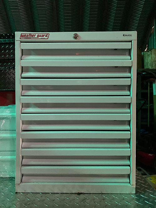 Weather Guard #9928-3-02 Steel Gloss White 8 Drawer