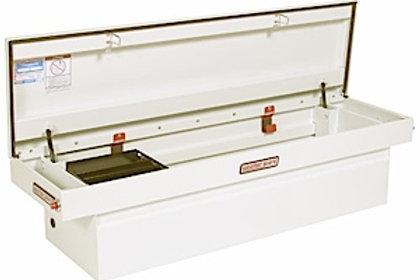 Weather Guard White Steel Sadde Box #116-3-01