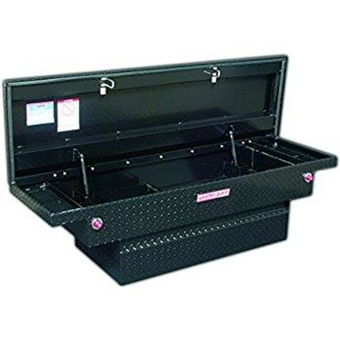 Weather Guard Low-Profile Black Aluminum Compacrt Saddle Box #131-5-01