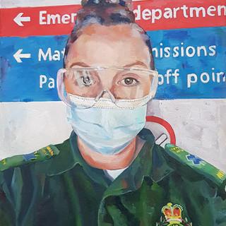 Caroline,  West Midlands Ambulance crew, Oil on canvas, 30 x 40cm