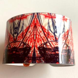 'Vintage Ships' Aluminium bangle. £42  Monica 07887677332