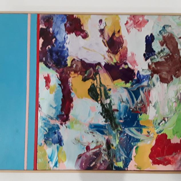 John Potter 'Flight Path #5' Acrylic and oil on board, 32 x 26cm £250 (framed)