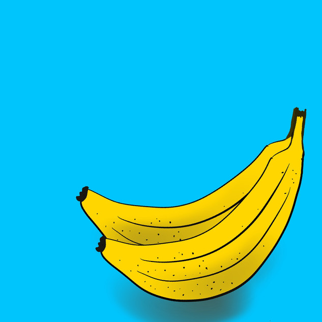 Go bananas Printed on A3 superior matte paper. Printing options available as 30cm x 30cm square or central image on A3. £25