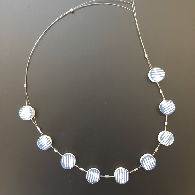 Necklace with handmade porcelain beads, £55 Please email or text Siglint Kessler 07730871780