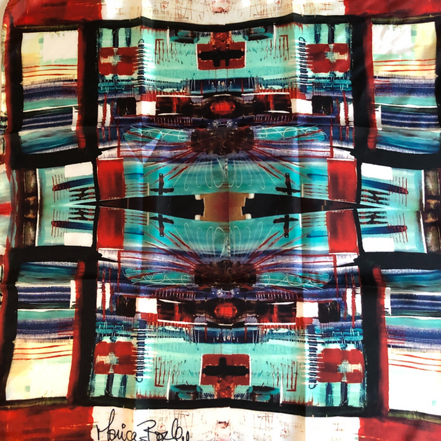 silk scarf abstract