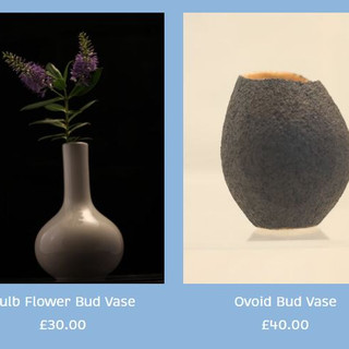 Peter Smith Bud Vases Semi-Porcelain & Stoneware Available to buy at: www.petersmithceramics.uk