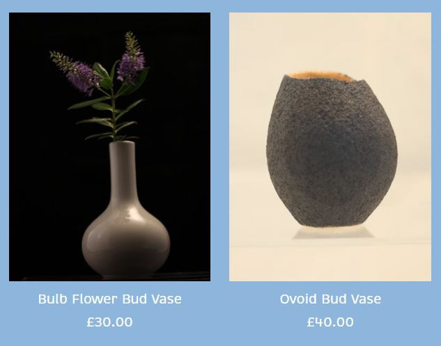 Peter Smith Bud Vases Semi-Porcelain & Stoneware Available to buy at: www.petersmithceramics.uk