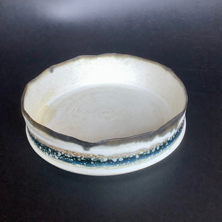 Gioilla Zordan thrown porcelain vessel with oxide banding 18x4.5 £ 47