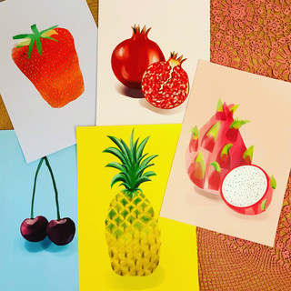 A3 fruit prints Superior matte paper £25 each Printing options available. Please contact me to discuss image placement and size.