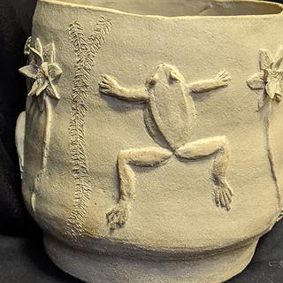Large stoneware garden pot £125 Please email Angela Attwood