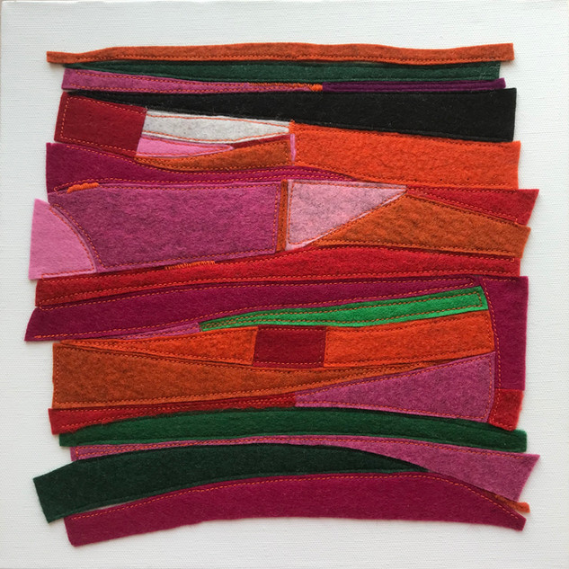 Abstract Felt on canvas, £200