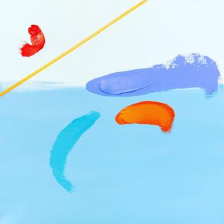 Under the Sea 30cm x 30cm Acrylic/mixed media on deep edged canvas. £60