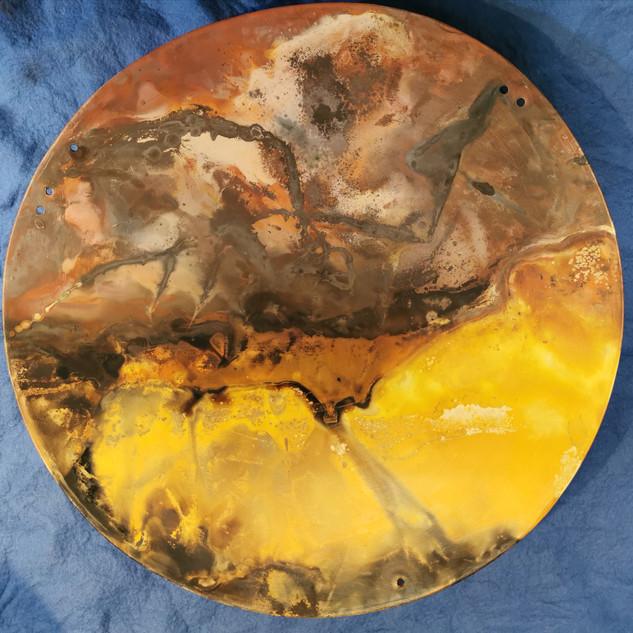 Terra sigillata smoked fire disc (About 30cm diameter)  £70 Irek Gajowniczek 07986609977