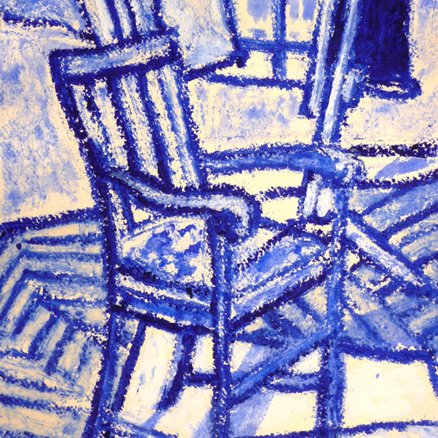 Chair Oilbar and Chalk on Paper