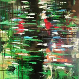 John Potter 'Reflection', 2019 Acrylic on canvas, 100 x 85cm £500 (framed)
