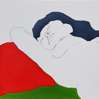 Carla Oil and pencil on canvas, 50x70cm
