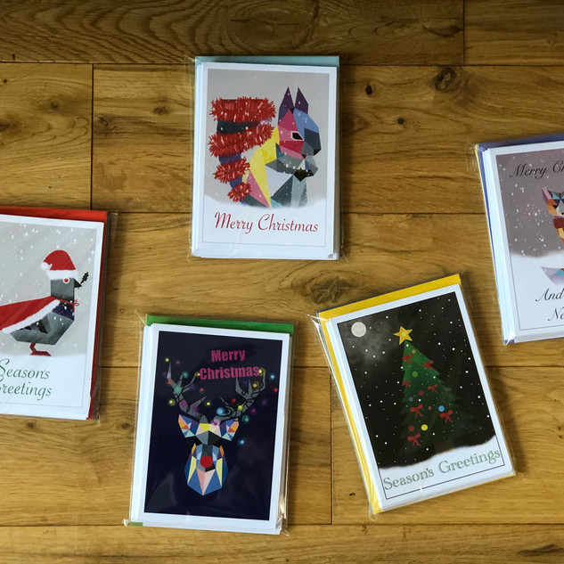 Mixed pack of 10 cards 2 of each design as pictured. £10.00 per pack Shaz Ozkaya
