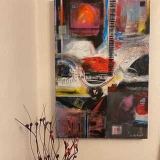 Tracks Acrylic on canvas 75cm x 50cm £225.00