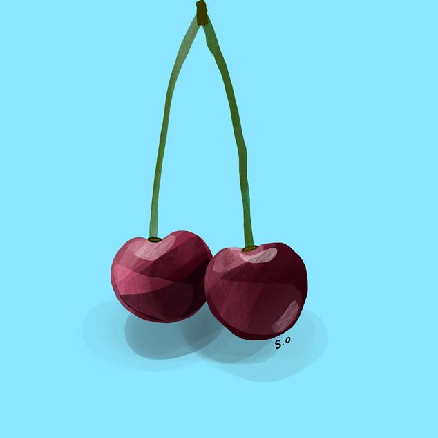 Cherries Digital Print