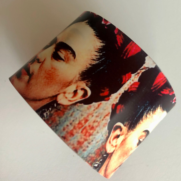 'Frida'  Aluminium bangle. £42  Monica 07887677332