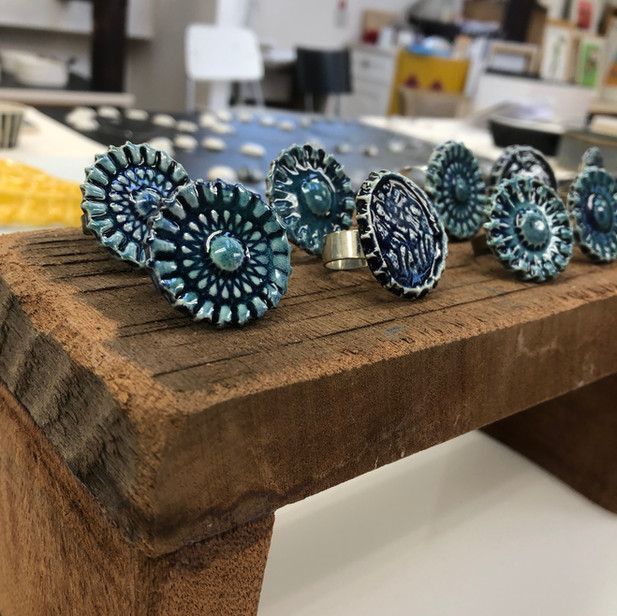 Ceramic rings by Najha Saleh
