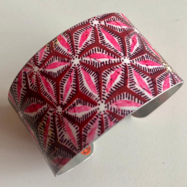 Indian textile' Pinks.. Aluminium bangle. £42  Monica 07887677332