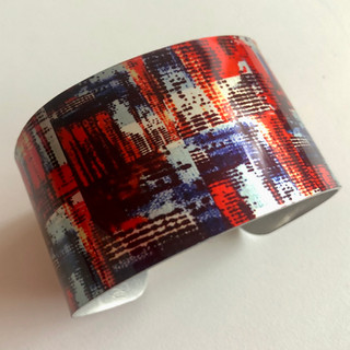 Textile Design  Aluminium bangle. £42  Monica 07887677332