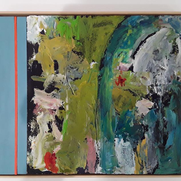 John Potter 'Flight Path #1' Acrylic and oil on board, 32 x 26cm £250 (framed)