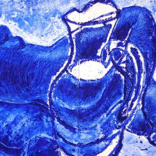 Still life Oilbar and Chalk on Paper