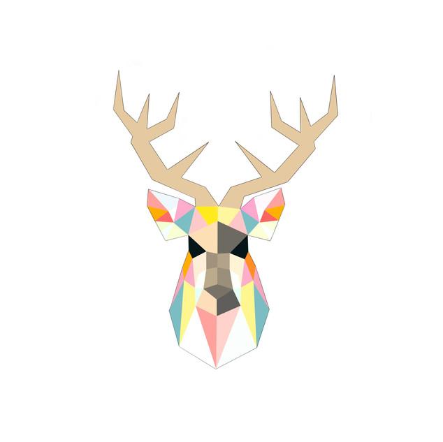 Geometric Stag A3 print on superior matte paper. £25 Printing options available.