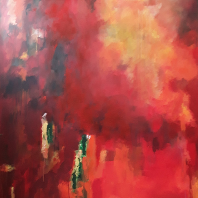 John Potter 'Red River', 2019 Acrylic on canvas, 150 x 150cm Price on request