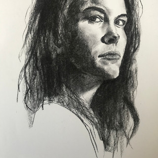 Portrait Charcoal on paper