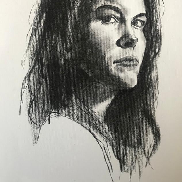 Portrait Charcoal on paper