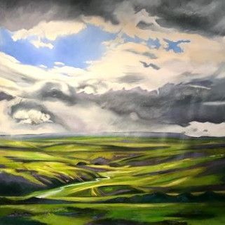 Alston Moor Oil on Canvas  100 x 100 cm  £1700